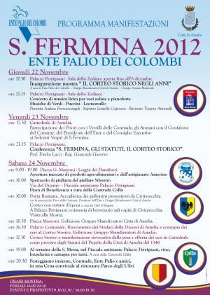Amelia Programma Santa Fermina 2012