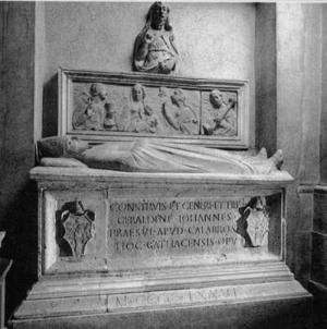 Tomba Giovanni Geraldini Vescovo Amelia Terni Umbria