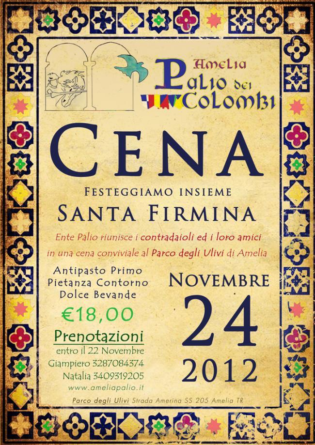 Cena conviviale - Festeggiamo insieme Santa Firmina