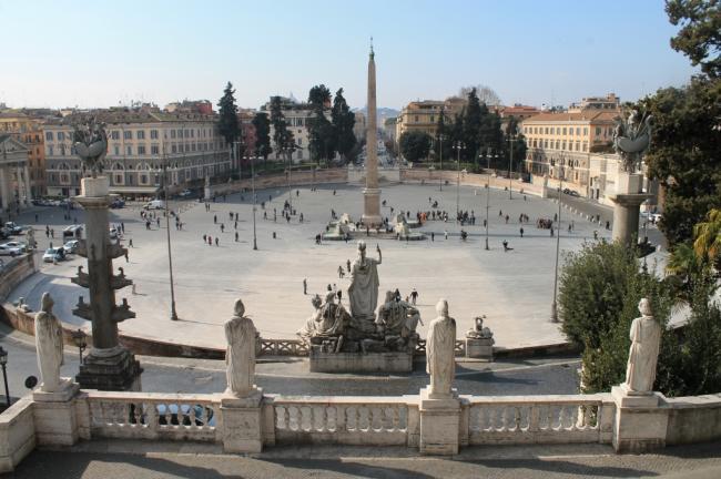 Piazza del Popolo - Terrazzo del Pincio - Roma