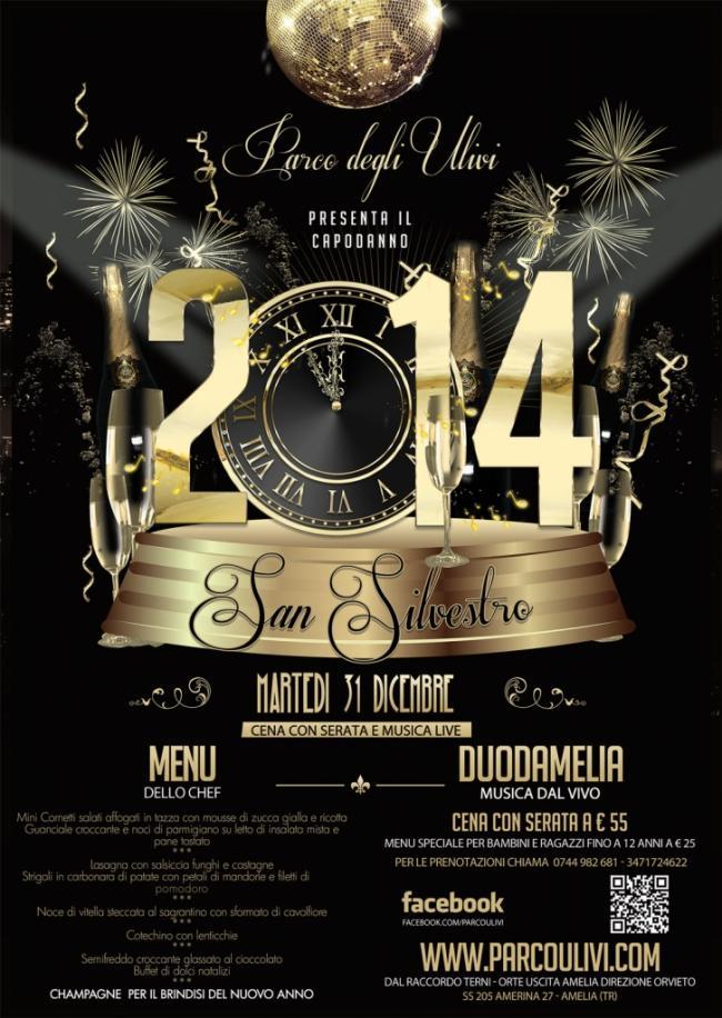 Capodanno al Parco degli Ulivi - Cena e musica live del duodamelia