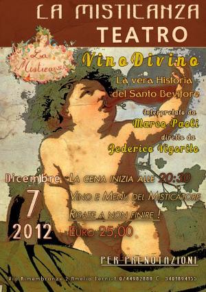 Teatro alla Misticanza - Vino Divino - Marco Paoli - Federico Vigorito