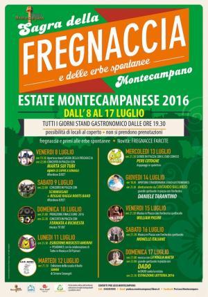 Programma sagra della fregnaccia 2016 - Montecampano - Amelia Umbria
