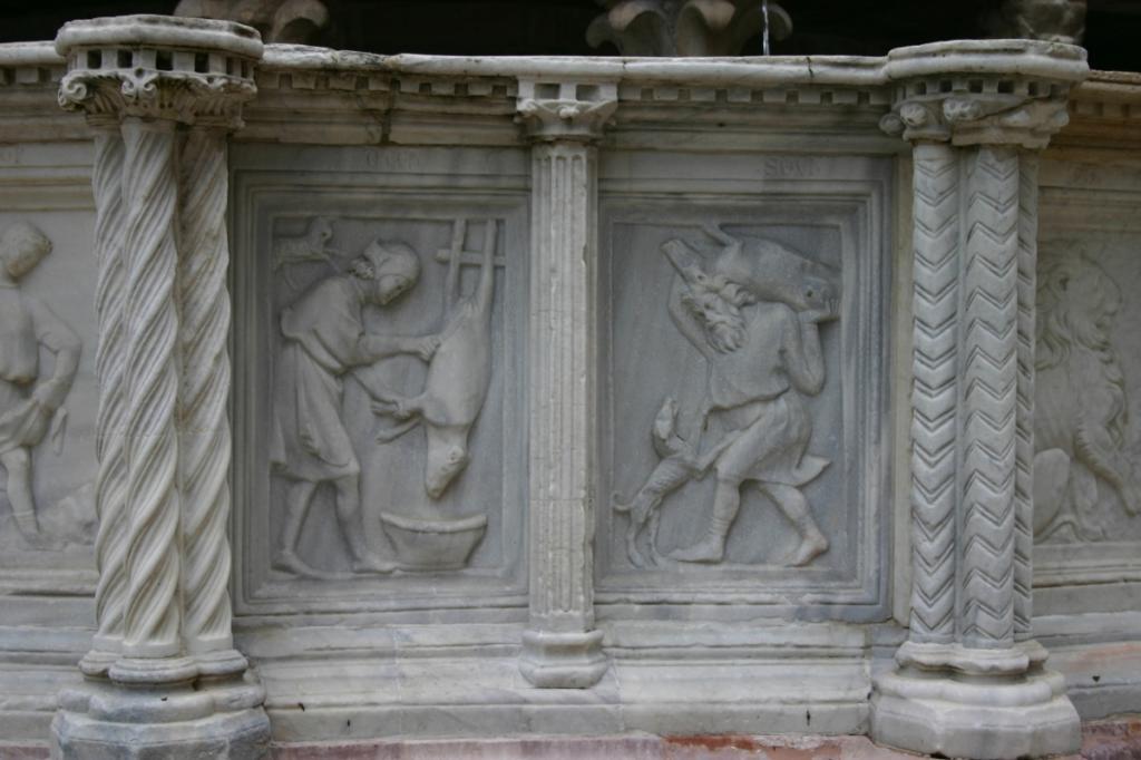 Fontana Maggiore Perugia - Raffigurazione mese di Dicembre - Fonte Wikipedia